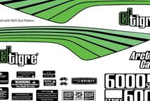 The Sled Printer Decals / Some examples of our graphics work on and off the sleds.