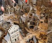 Miniatures and terrain / Inspiration and references for a ruined cityscape -styled gaming table and terrain.