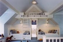 """Bunkie Design Ideas / Bunk bed, day bed & Austin native Wes Anderson/vintage camping decor ideas for our backyard bunk house or """"bunkie"""" - a guest house without a bathroom."""