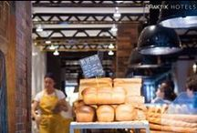 Praktik Bakery Barcelona / The Praktik Bakery in Barcelona integrates a bakery inside the hotel: there is nothing like the smell and taste of freshly baked bread coming out of the oven! hotelpraktikbakery.com