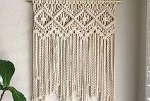 Zuhause | Wall hanger & Makramee / Makramee ist eine alte orientalische Knüpftechnik, die gerade ihr Revival erlebt. Schau mal, welche Inspirationen ich hier für dich gefunden habe.