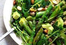 Food | Greens from my Garden / Hier findest du leckere Gerichte mit grünem Gemüse und frische Salate aus dem Garten