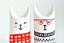 Kids DIY | Basteln mit Papprollen / DIY Bastelideen mit leeren Klorollen und Papprollen für Kinder zum selber machen