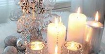Pimeiden iltojen tunnelmaa... / Tunnelmallisia valoja ja kynttilöitä.