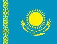 (Eur/Azie) KAZAKHSTAN / Kazachstan, is een land in Azië en Europa dat grenst aan Rusland, China, Kirgizië, Oezbekistan, Turkmenistan en de Kaspische Zee. Kazachstan is het grootste land in Centraal-Azië. Het grondgebied ten westen van de rivier de Oeral wordt tot Europa gerekend.