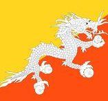 (Asia) BHUTAN / Bhutan, uitgesproken en ook wel geschreven als Bhoetan, officieel het Koninkrijk Bhutan, is een land in Azië dat in de Himalaya ingeklemd ligt tussen China en India. Het zuidelijke gedeelte van Bhutan ligt op het Indische subcontinent.