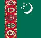 (Asia) TURKMENISTAN / Turkmenistan is een land in Azië dat grenst aan Kazachstan, Oezbekistan, Afghanistan, Iran en de Kaspische Zee. Voorheen was het een onderdeel van de Sovjet-Unie.  Niazov werd op 27 oktober 1990 tot president van Turkmenistan gekozen en Niazov transformeerde van stalinist tot nationalist. Op 27 oktober 1991 verklaarde Turkmenistan zich onafhankelijk, wat op 8 december 1991 door Moskou werd erkend.