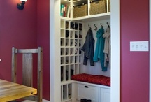 Coat closet, hallway and stairs / by Tiffany Mattison