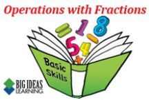 Operations with Fractions (Middle School) / Big Ideas Learning Basic Skills Handbook worksheets and answers for problems relating to Operations with Fractions.