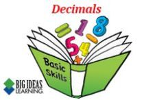 Decimals (Middle School) / Big Ideas Learning Basic Skills Handbook worksheets and answers for problems relating to Decimals