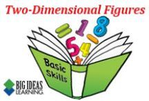 Two-Dimensional Figures (Middle School) / Big Ideas Learning Basic Skills Handbook worksheets and answers for problems relating to Two-Dimensional Figures.