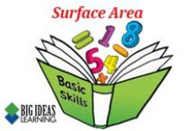 Surface Area (Middle School) / Big Ideas Learning Basic Skills Handbook worksheets and answers for problems relating to Surface Area.