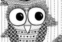A JULIANNE / Textures pour différents projets : mandala, zentangle et doodle.