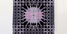 Silk Scarves / Silk scarves decorated with beautiful patterns and modern abstract designs