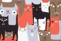 Cat Illustrations / Can't get enough of the cats.