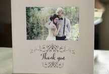 Wedding thank you cards / Stunning wedding thank you cards using a photo to capture the day. Personal high quality bespoke cards.