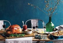 Thanksgiving Dinner / Ideas, recipes and decoration ideas for Thanksgiving. From Turkey, to pumpkin pie to cranberrry votives to kick of the holiday season.