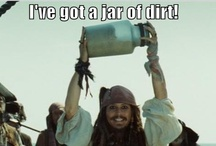 """Stop blowing holes in my ship / """"Why is the rum gone?"""" -Captain Jack Sparrow / by Casie Matter"""
