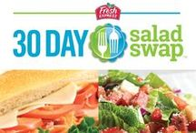 30 Day Salad Swap / The Fresh Express 30 Day Salad Swap helps you recreate the flavors of your favorite higher-calorie foods in lower-calorie salads. Choose from a wide assortment of Salad Swap recipes.  / by Fresh Express