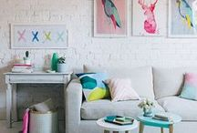 Living in C O L O R / Colorful rooms! / by Wind and Willow Home