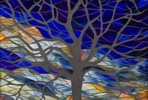 mosaic and glass art / Pretty mosaic and glass art