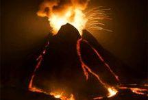 Lavafälle - Vulkan