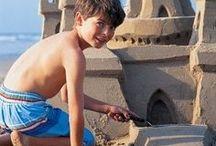 Sand-Sculpturen / Sand, Wasser
