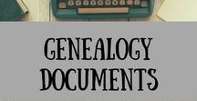 Genealogy Documents / Genealogy, Ancestry, FamilySearch, How to, Family History, History, Family, Research, Documents, Census, Birth, Marriage, Death, Adoption, Records