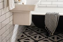 inspiration: small bathrooms / beautiful bathrooms in small spaces / by Brooke Waite @ Design Stash