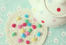 C R O C H E T♥ {decor} / buntings, banners, wall hangings, cozies                                               {crochet to dress up your home}