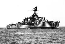 #dazzlecamouflage | Dazzle Camouflage / #dazzlecamouflage #camouflage #blackandwhite  Dazzle camouflage, also known as razzle dazzle or dazzle painting, was a family of ship camouflage used extensively in World War I and to a lesser extent in World War II and afterwards. Credited to artist Norman Wilkinson, though with a prior claim by the zoologist John Graham Kerr, it consisted of complex patterns of geometric shapes in contrasting colours, interrupting and intersecting each other. (Wikipedia)