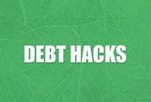 Get Out of Debt Tips / Hacks to help you learn how to pay off debt, stop wasting money, get rid of credit card debt, and save more.