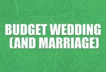 Budget Wedding Ideas / Smart tips for having a budget wedding. Wedding planning finances and DIY wedding tips for reception, decorations, dress, food, flowers, centerpieces, and more.