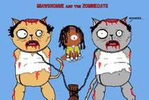 The purring Dead - Cats and Zombies - The Walking dead / This is some of my Walking Dead fan art.