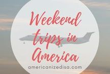 America | Weekend Trips / Don't we all love a little Weekend Getaway? Get inspiration and tips for your next Weekend Trip in America! Explore America, United States, Road Trip, Accommodation, Hotel, Day Trip, Packing, Discover America.