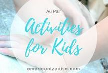 Au Pair | Activities for kids / A collection of ideas and tips fro Au Pairs on how to entertain your host children - have fun! Au Pair in America, Life in USA, Gap Year, Childcare, Activities for kids, Toddlers, Games, Baby, Teenager, Crafts, Painting.