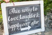 Wedding Signs / Personalised wedding signs are a must! Below you'll find plenty of ideas for fun and witty signage and directions!