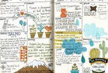 [ Memory keepers ] Traveljournals / #traveldiary #traveljournals #midori #memorykeepers #sketchbook #illustration #scrapbook