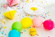 Party Time / DIY, diy, craft, party craft, party ideas, homemade party supplies, birthday party, themed party, balloons, pinatas, party hat, streamers, party decor, backdrop, goodie bags
