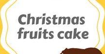 Christmas fruits cake