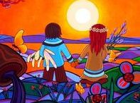 Visionary Art / Original art of the Lovescapes duo Ritchie Sinclair & Brona Wingell