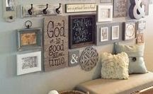 ♥ Gallery Walls / Ways to showcase your travels and family pictures that can be enjoyed every day.