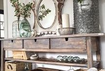 ♥ Halls and Entryways / Everyone can have a beautiful entryway into their home, even if space is limited.