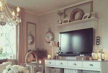 ♥ TV Cabinets / Decorating around the TV.