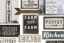 ♥ Rustic Signs / Primitive / Country / Farmhouse signs.