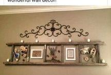 Ladder Ideas / Ideas for decorating with ladders. Ladder decorating. Ladder ideas.