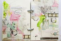 Mix media art / Gelatos, Ink, art journal