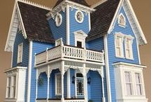 1:24 Fairfield Dollhouse / Year: 2016 Scale: 1:24 inch Style: American Victorian Carpenter Gothic  Materials: Wood, Clay, Papper, Resin, Plastic, Microglass, Foam, Metal  Electrical: Roundwire system, 12v, 30 bulb