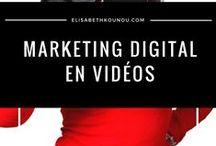 Marketing digital en vidéo / Vous retrouverez ici toutes les vidéos de ma chaîne youtube : https://elisabethkounou.com/youtube.