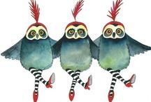 Watercolor & Ink Birds / by Moon Stumpp